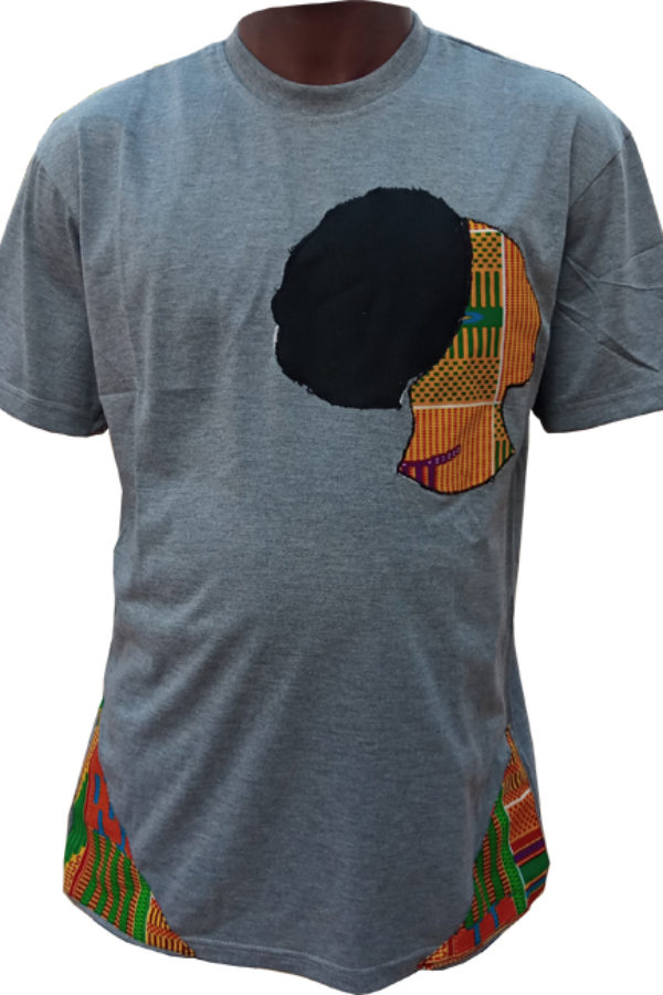 Ash African Design T-Shirt - Ladies portrait 1